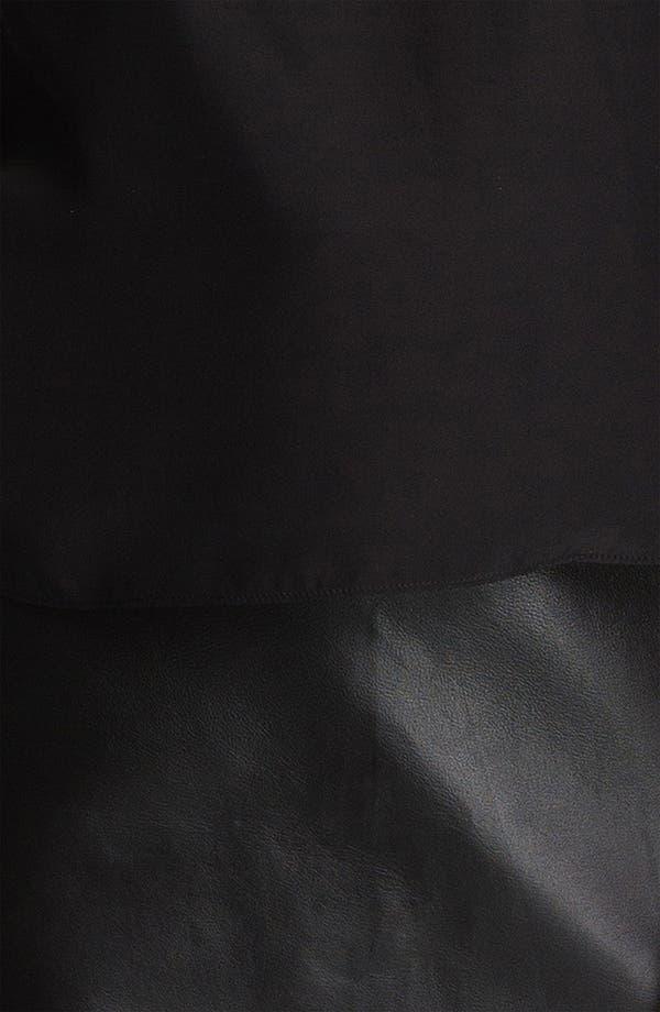 Alternate Image 3  - Parker 'Grace' Silk & Leather Blouson Dress