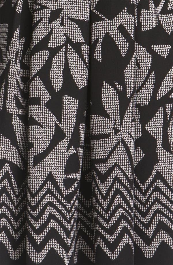 Alternate Image 3  - Tahari Pleated Print Twill Dress