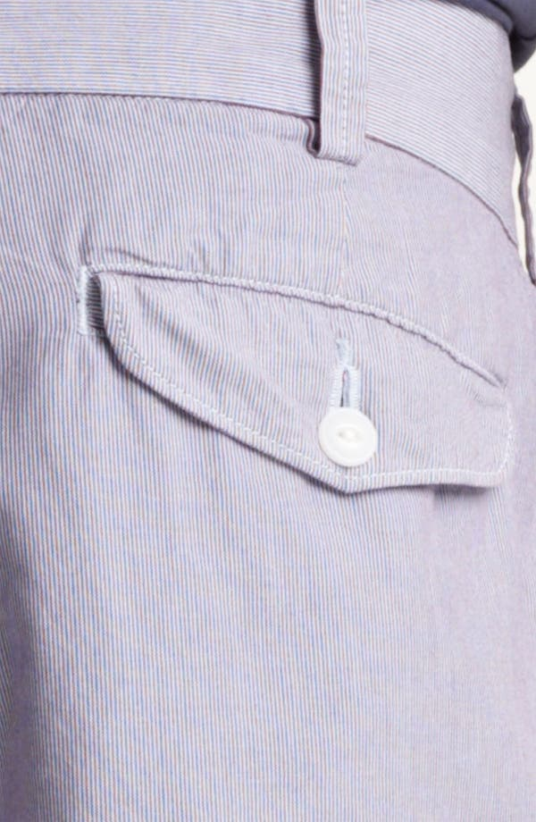 Alternate Image 3  - Save Khaki Microstripe Bermuda Shorts