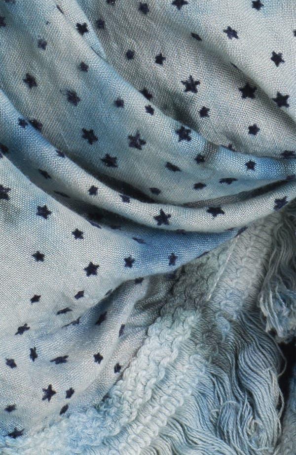 Alternate Image 2  - Maison Scotch Star Print Tie Dye Scarf