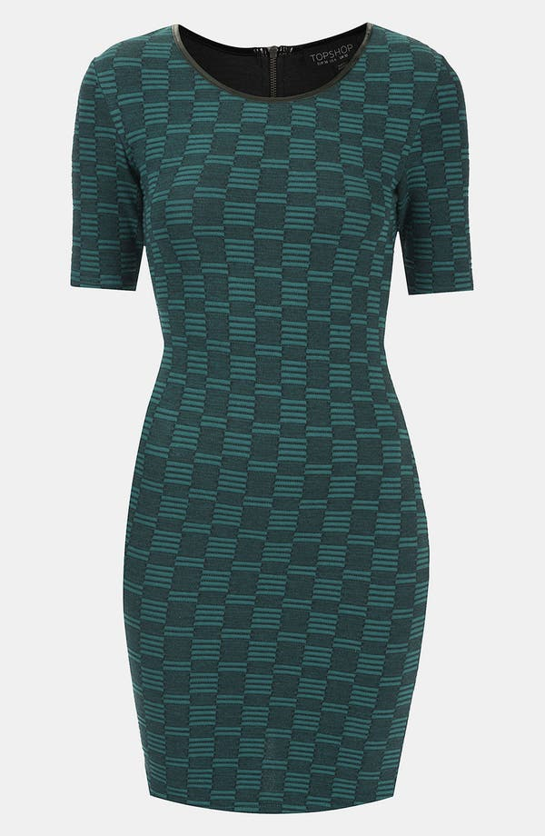 Main Image - Topshop Geometric Knit Body-Con Dress