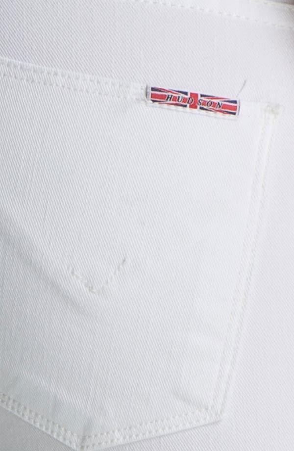 Alternate Image 3  - Hudson Jeans 'Collette' Cuff Skinny Jeans (White)