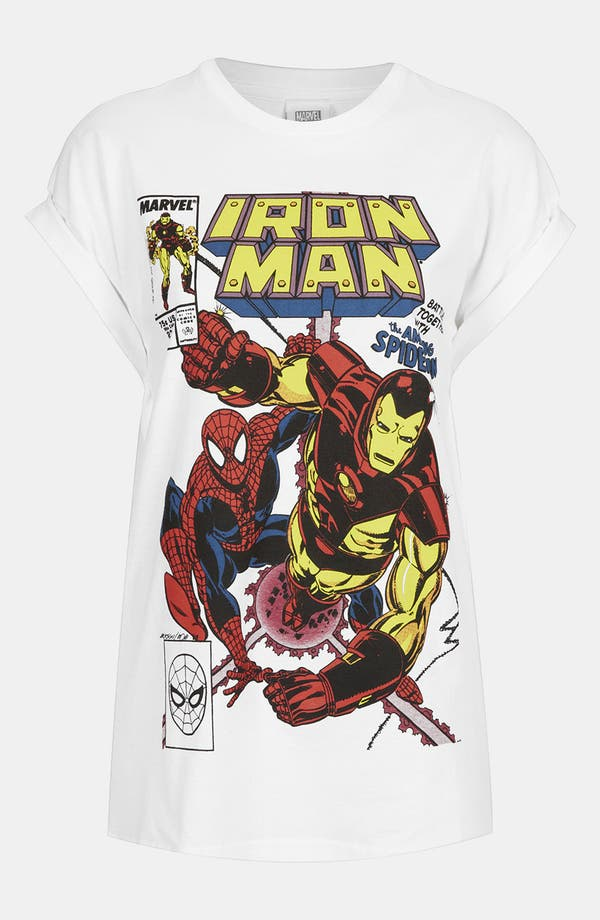 Alternate Image 1 Selected - Topshop 'Iron Man' Graphic Tee