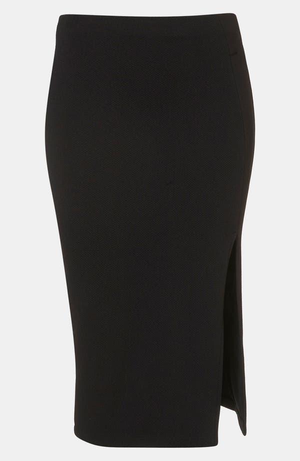 Main Image - Topshop Side Slit Pencil Skirt
