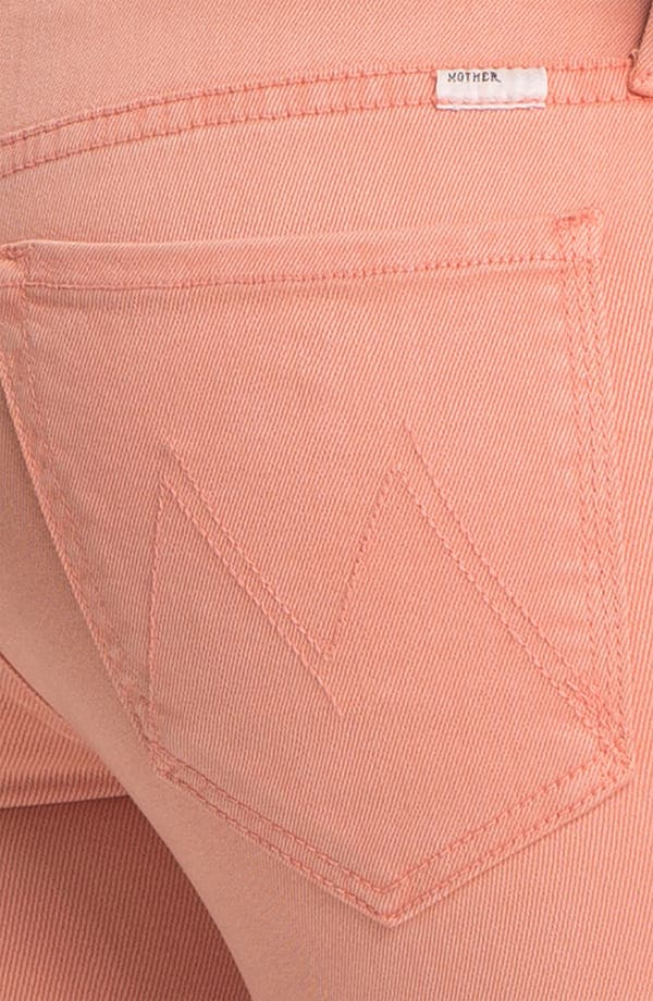 Alternate Image 3  - MOTHER 'The Looker' Skinny Stretch Jeans (Peach Knockout)