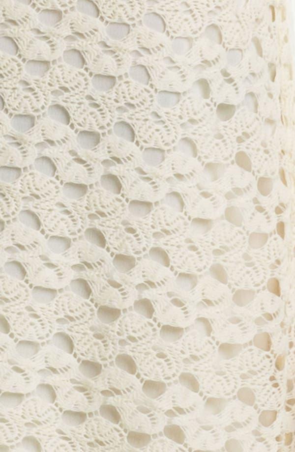 Alternate Image 3  - As U Wish Sleeveless Crochet Dress (Juniors) (Online Only)