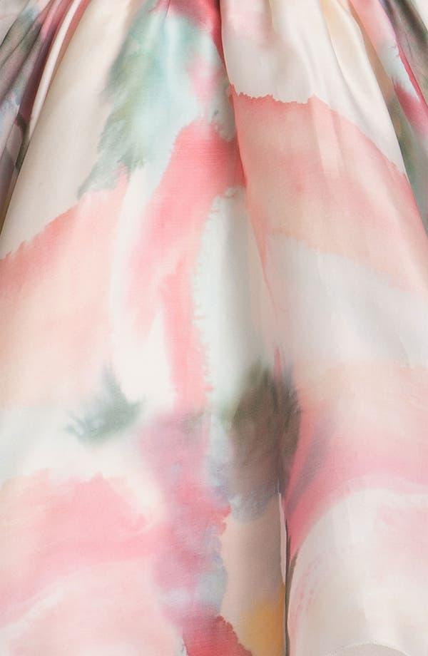 Alternate Image 4  - Alice + Olivia Belted Print Bustier Dress