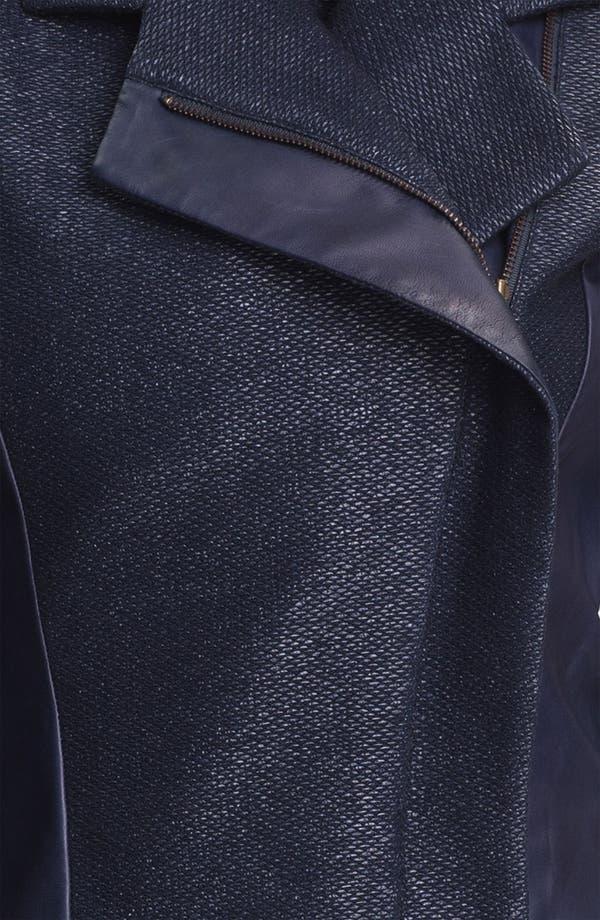 Alternate Image 3  - Nicole Miller Leather Detail Biker Jacket