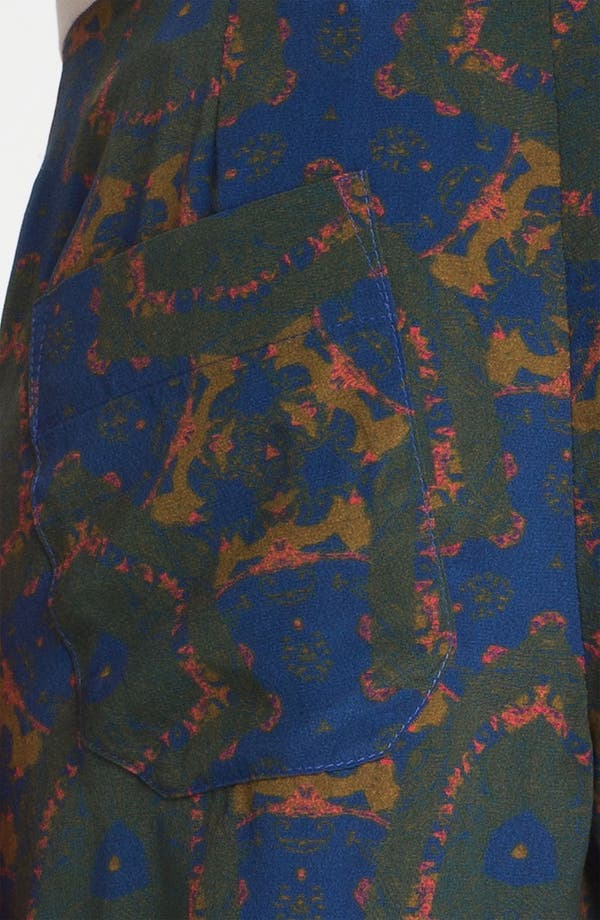 Alternate Image 6  - A.L.C. 'Bryant' Mix Print Silk Pants