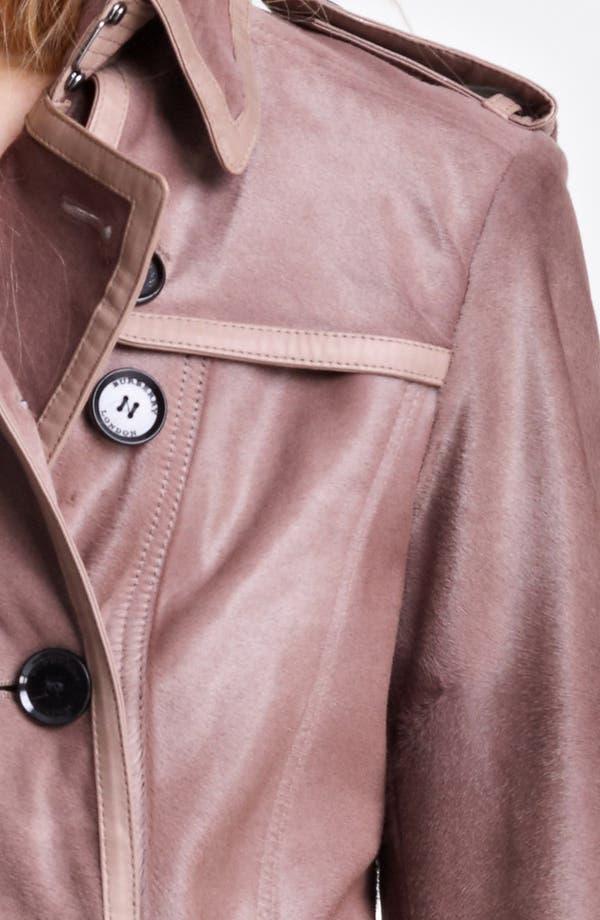 Alternate Image 3  - Burberry London Shiny Calf Hair Trench Coat
