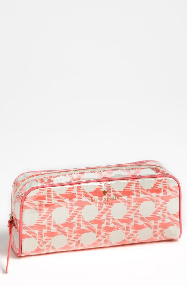 Main Image - kate spade new york 'cottage house - small henrietta' cosmetics case