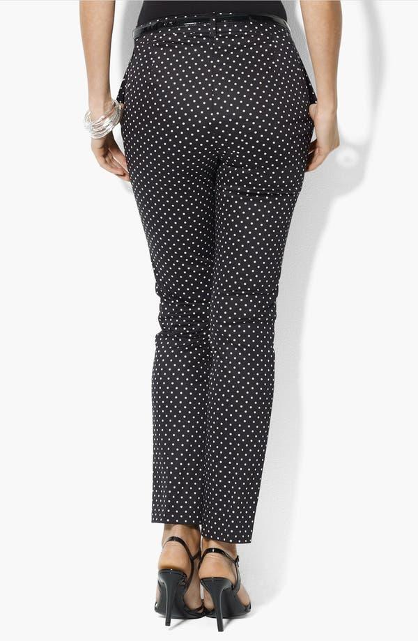 Alternate Image 2  - Lauren Ralph Lauren Dot Print Ankle Pants (Petite)