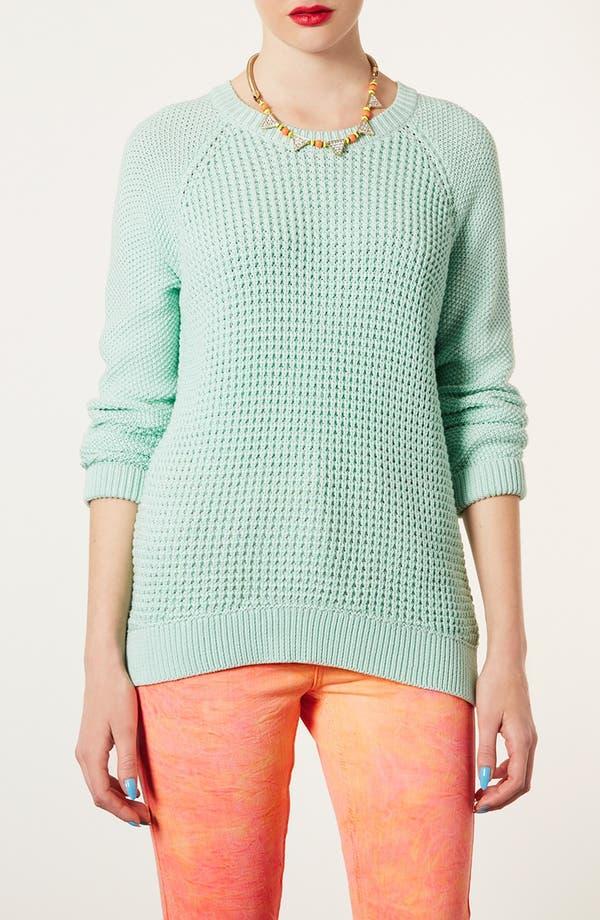 Main Image - Topshop 'New Textured Grunge' Sweater