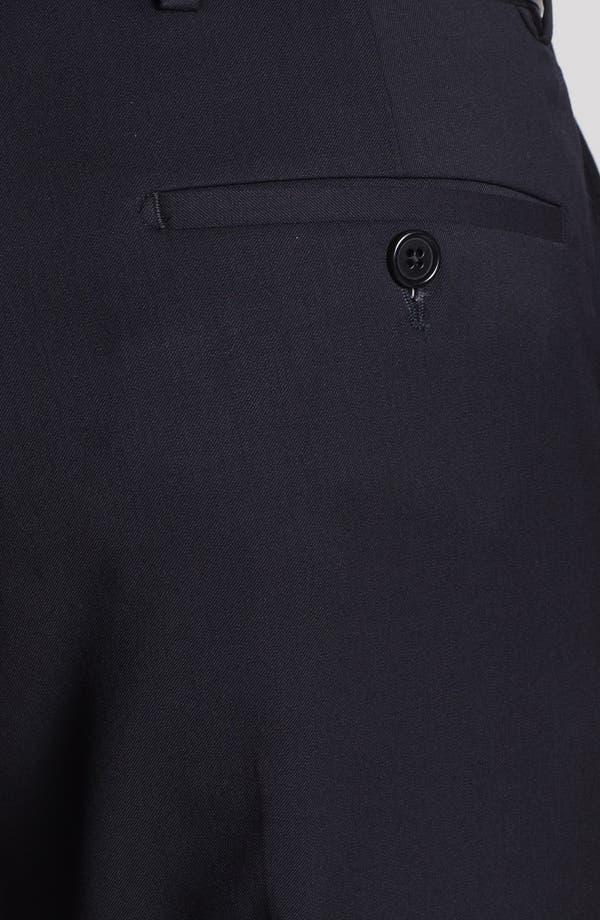 Alternate Image 6  - Armani Collezioni Flat Front Wool Trousers