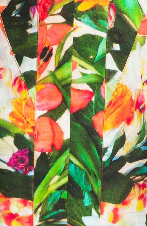 Alternate Image 3  - Nicole Miller Floral Print Seamed Sheath Dress