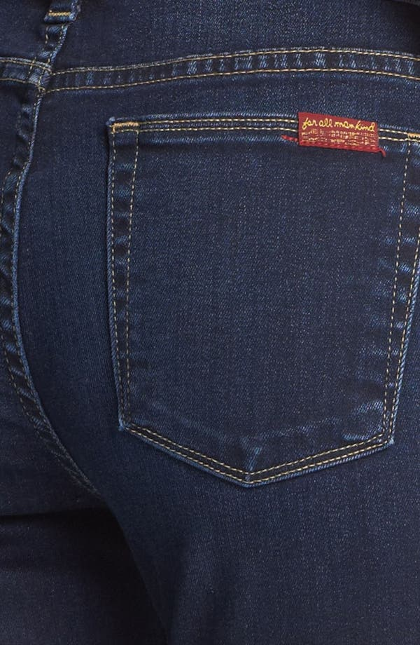 Alternate Image 3  - 7 For All Mankind® Slim Straight Leg Jeans (Illusion Dark Rich Blue)
