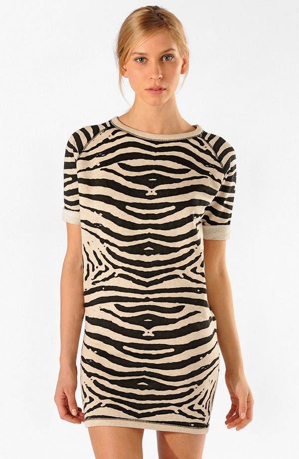 Main Image - maje 'Appriori' Knit Cotton Shift Dress