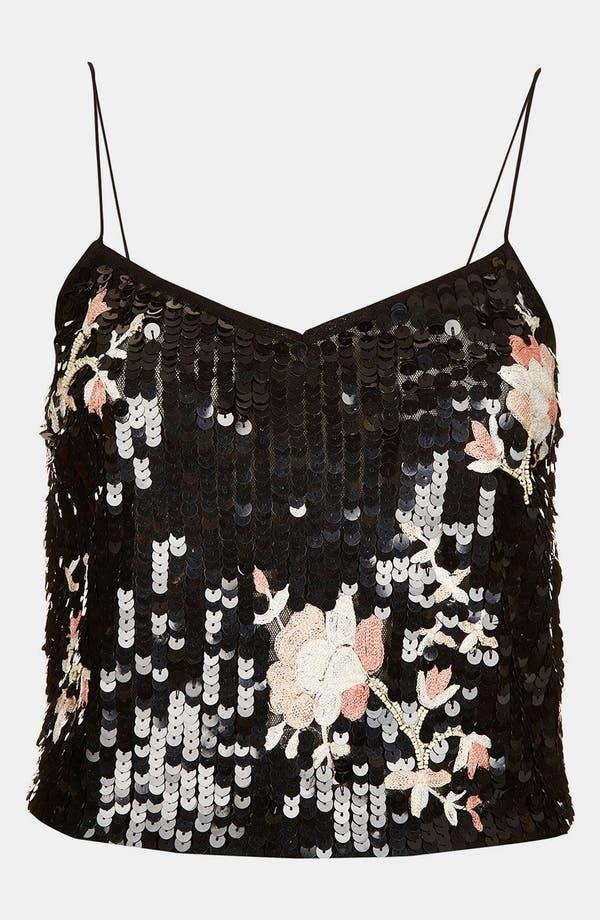 Alternate Image 3  - Topshop Oriental Sequin Camisole
