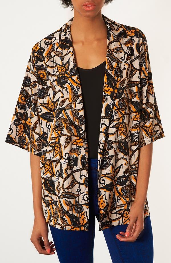 Main Image - Topshop Batik Print Kimono Jacket
