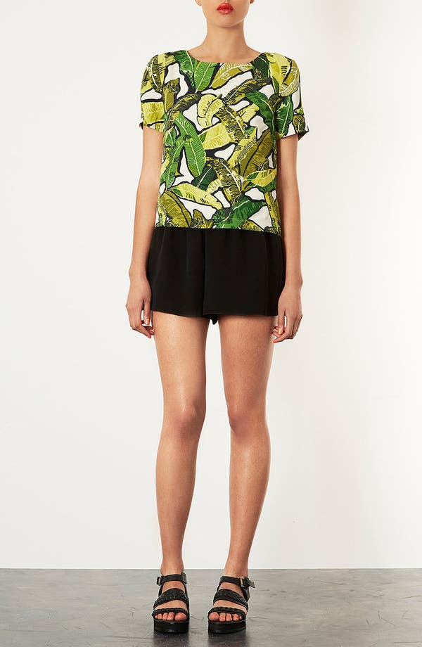 Alternate Image 4  - Topshop Banana Leaf Print Top