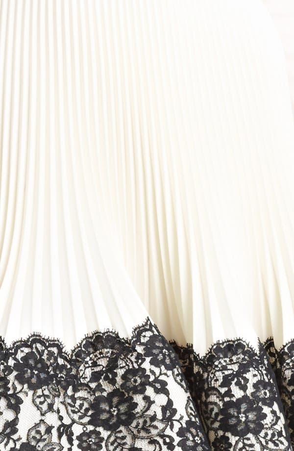 Alternate Image 3  - Valentino Lace Hem Wool Dress