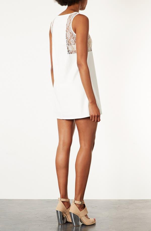 Alternate Image 2  - Topshop Lace Trim Shift Dress