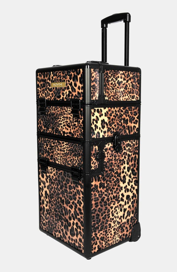 Alternate Image 1 Selected - NYX Leopard Cosmetics Train Case