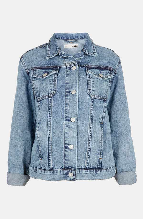 Alternate Image 5  - Topshop Moto 'Sylvie' Acid Wash Denim Jacket