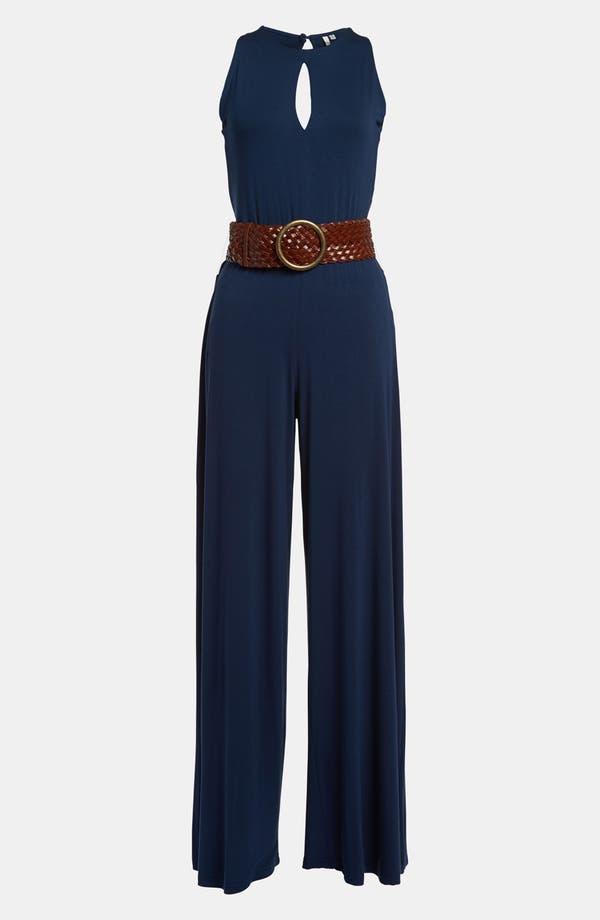 Alternate Image 2  - BB Dakota Slit Back Jersey Jumpsuit