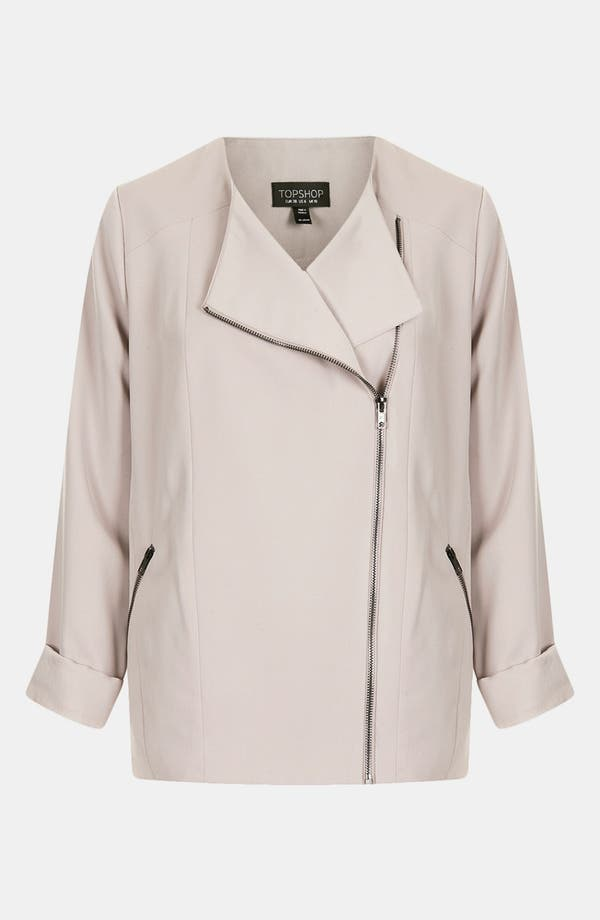 Alternate Image 3  - Topshop 'Fluid' Oversized Biker Jacket