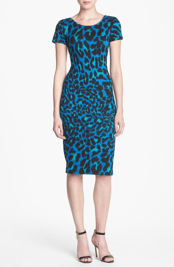 Alternate Image 1 Selected - WAYF Leopard Spot Body-Con Dress
