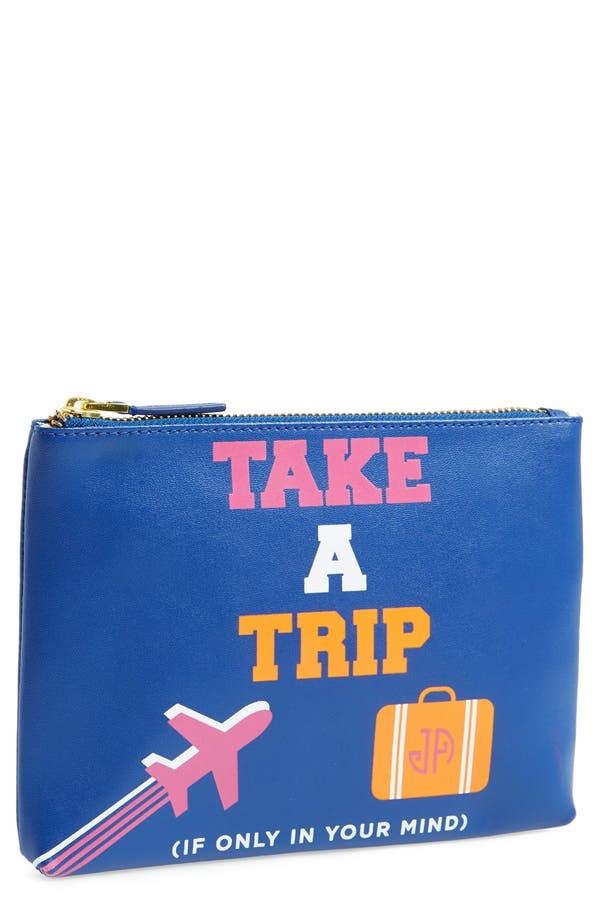 'Take A Trip - Small' Pouch,                         Main,                         color, Navy