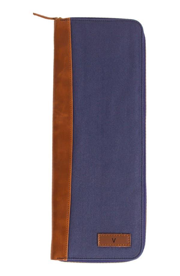 Monogram Tie Case,                             Main thumbnail 1, color,                             Navy-V