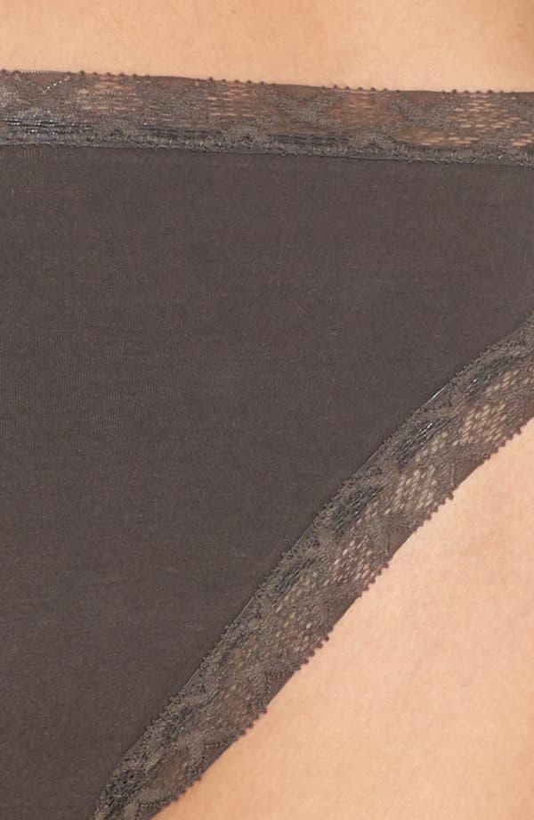 Bliss French Cut Briefs,                             Alternate thumbnail 4, color,                             Dark Grey