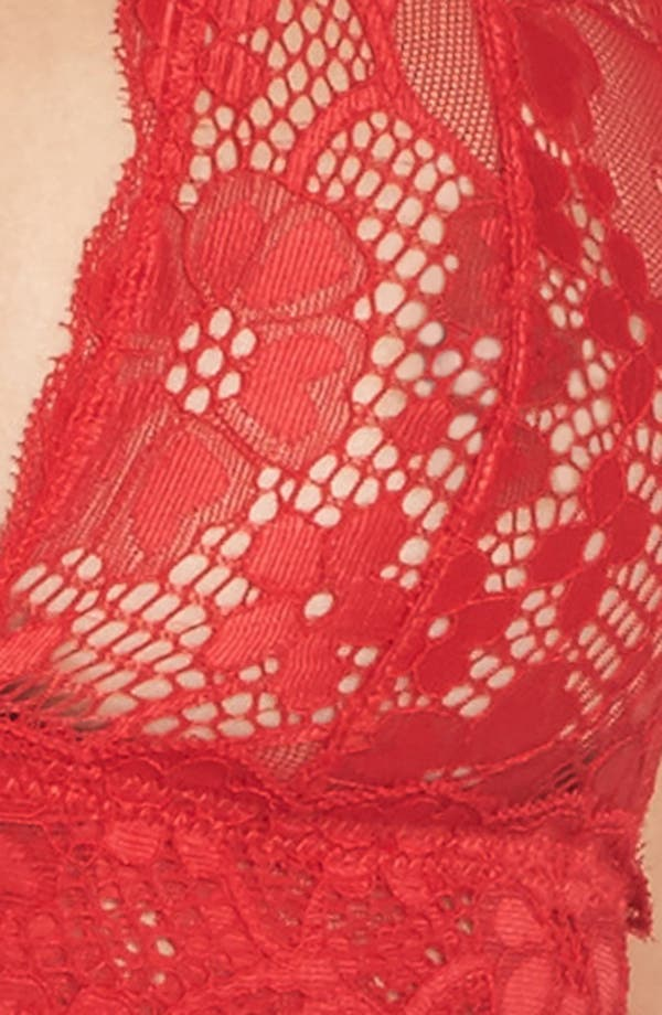 Alternate Image 9  - Honeydew Intimates Camellia Lace Triangle Bralette