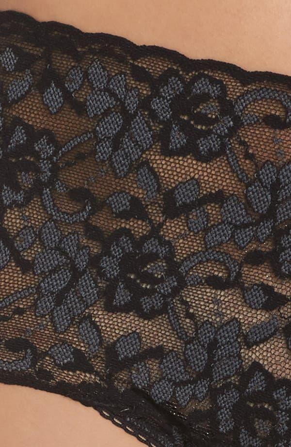 Cross Dye Lace Retro Vikini,                             Alternate thumbnail 5, color,                             Black/ Heather