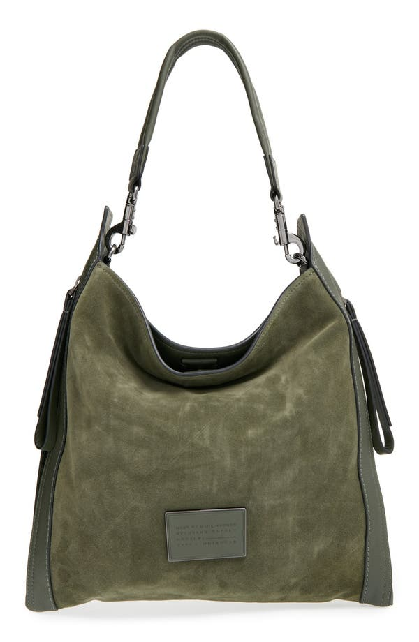 Alternate Image 1 Selected - MARC BY MARC JACOBS 'Zip That' Suede & Leather Hobo