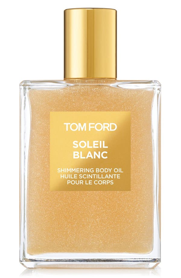 Soleil Blanc Shimmering Body Oil,                             Main thumbnail 1, color,                             No Color