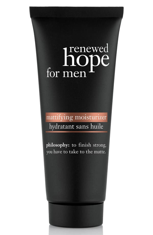 'renewed hope' mattifying moisturizer for men,                             Main thumbnail 1, color,                             No Color