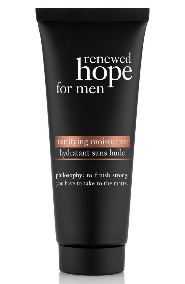 'renewed hope' mattifying moisturizer for men,                         Main,                         color, No Color