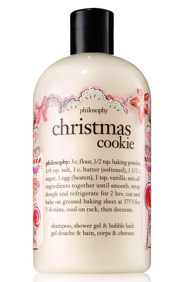 Alternate Image 1 Selected - philosophy 'christmas cookie' shampoo, shower gel & bubble bath (Limited Edition)