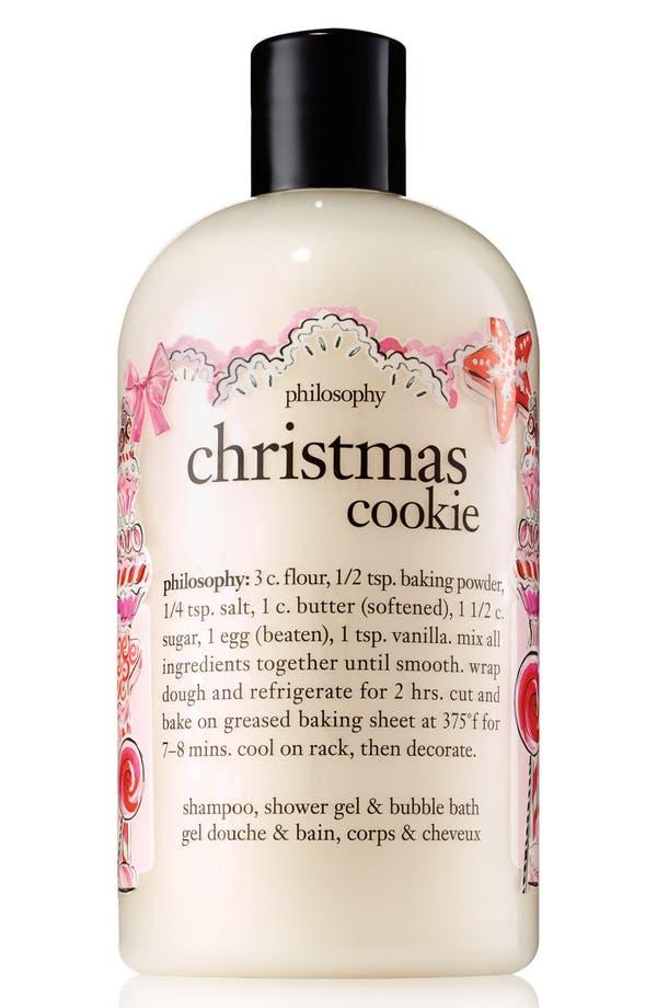 Main Image - philosophy 'christmas cookie' shampoo, shower gel & bubble bath (Limited Edition)