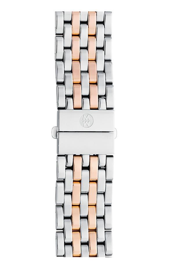 Deco 18mm Bracelet Watchband,                         Main,                         color, Silver/ Rose Gold