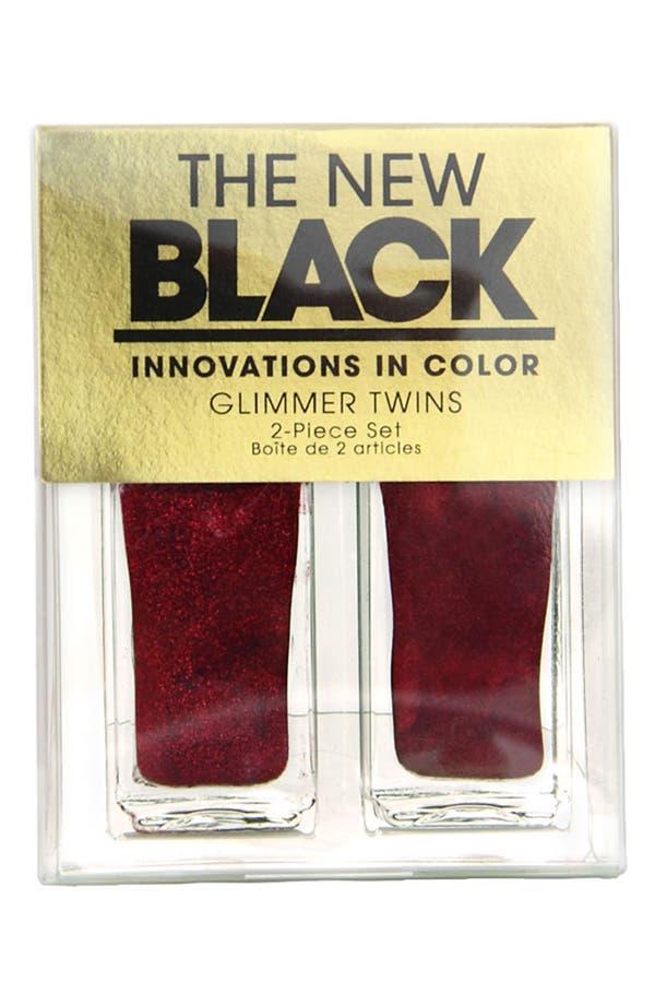 Alternate Image 2  - THE NEW BLACK 'Crimson Glimmer' Nail Polish Duo