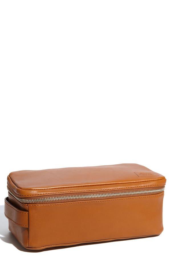 Alternate Image 1 Selected - Jack Spade 'Mill' Leather Travel Kit