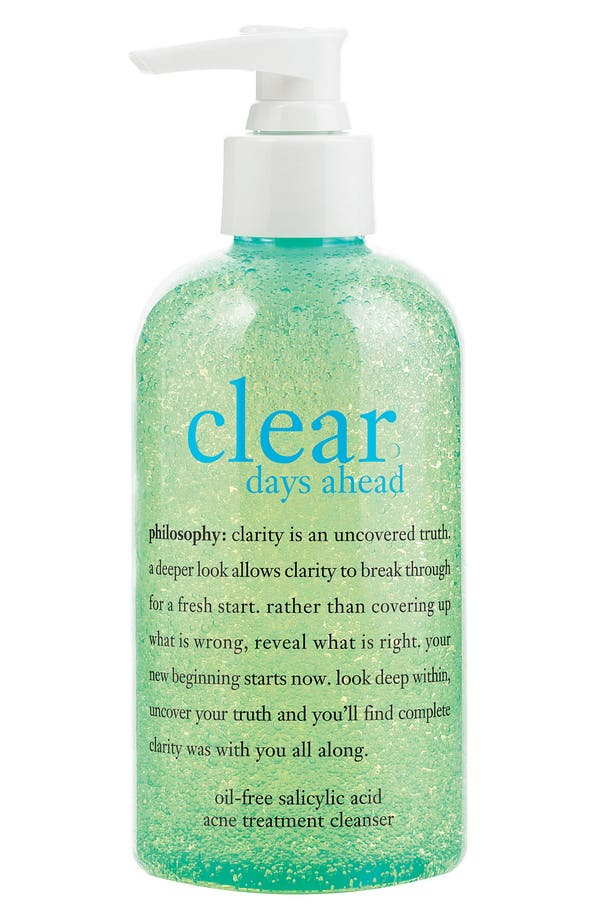 'clear days ahead' acne treatment cleanser,                         Main,                         color,