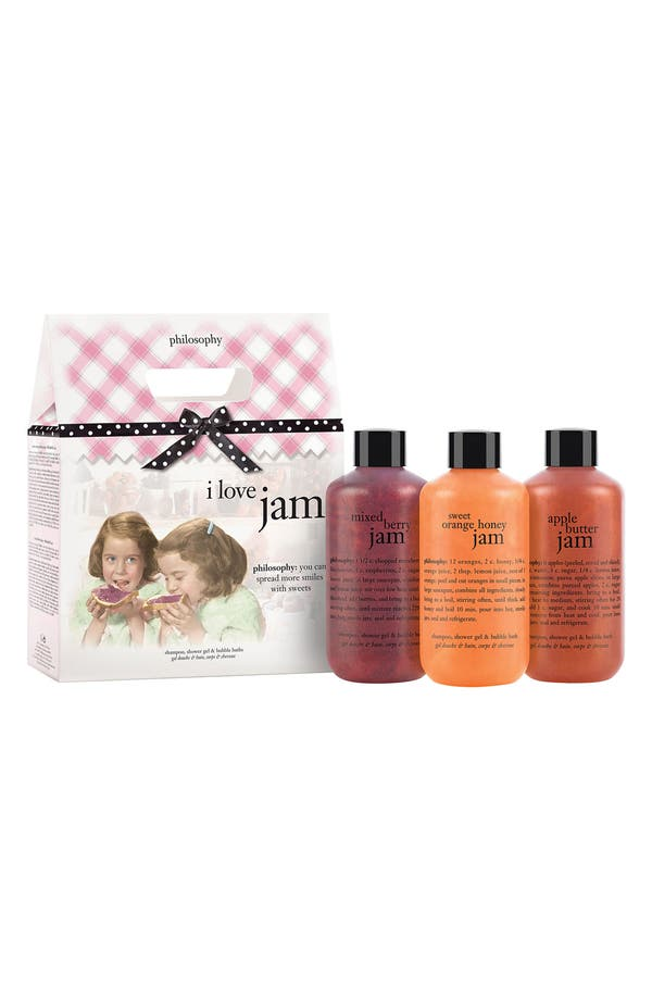 Main Image - philosophy 'i love jam' shampoo, shower gel & bubble bath trio (Nordstrom Exclusive)
