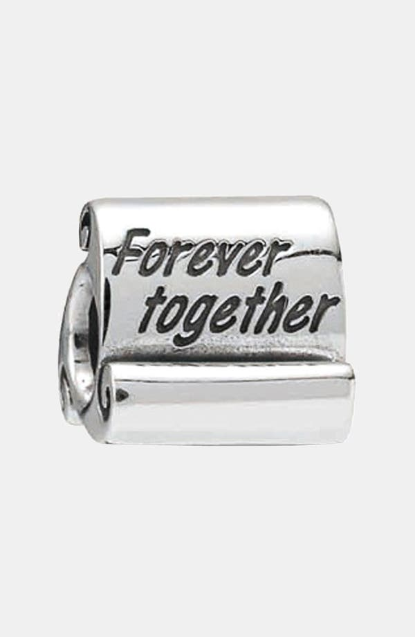 Alternate Image 1 Selected - PANDORA 'Forever Together' Scroll Charm
