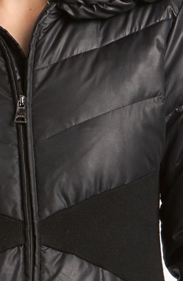 Alternate Image 3  - bebe Knit Trim Puffer Jacket