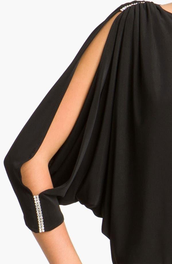 Alternate Image 3  - Betsy & Adam Embellished Split Sleeve Jersey Minidress